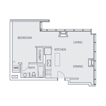 Apartment 1404 floor plan