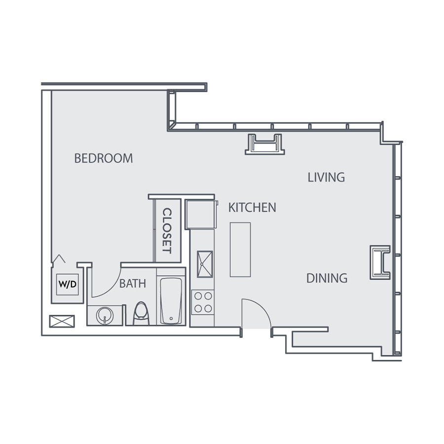 Rendering of the Loft A floor plan layout