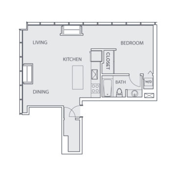 Apartment 1003 floor plan