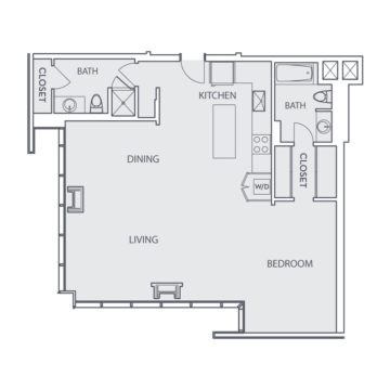 Apartment 1102 floor plan