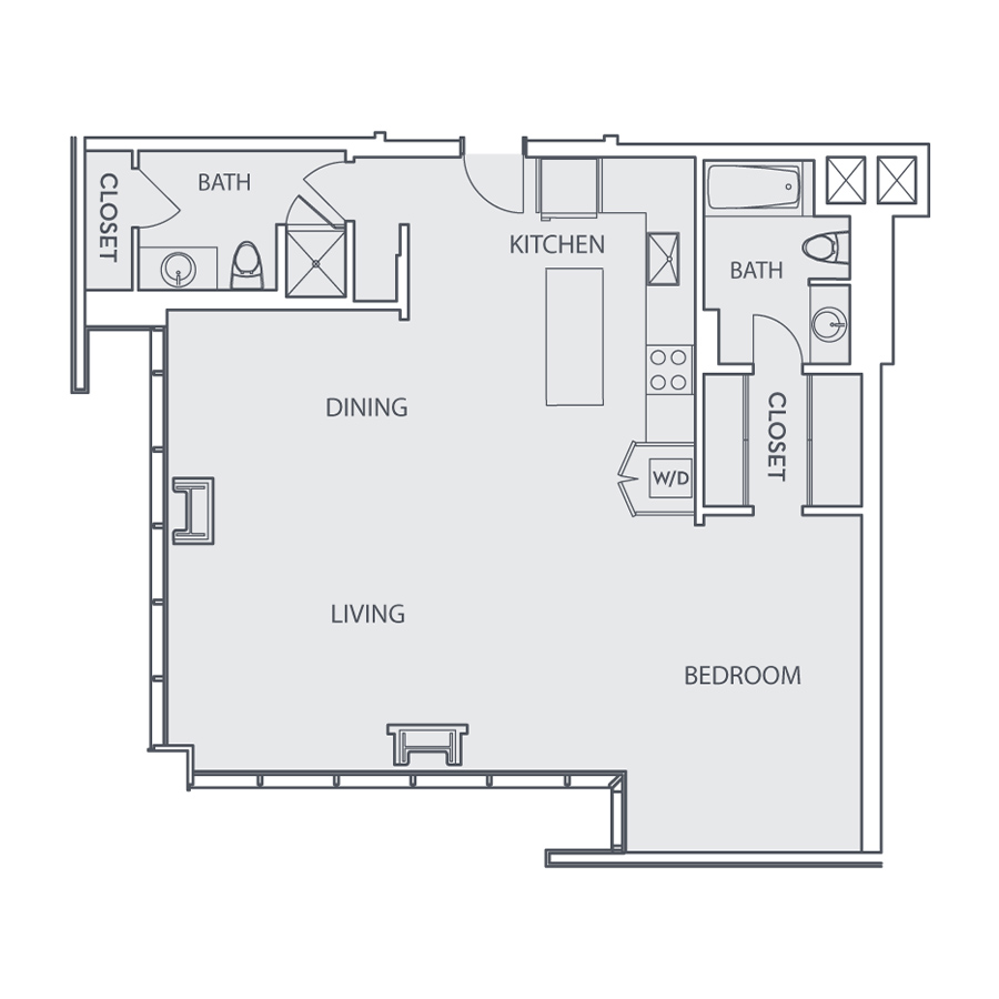 Rendering of the Loft C floor plan layout