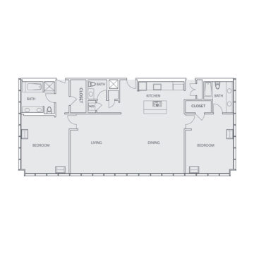 Apartment 1701 floor plan